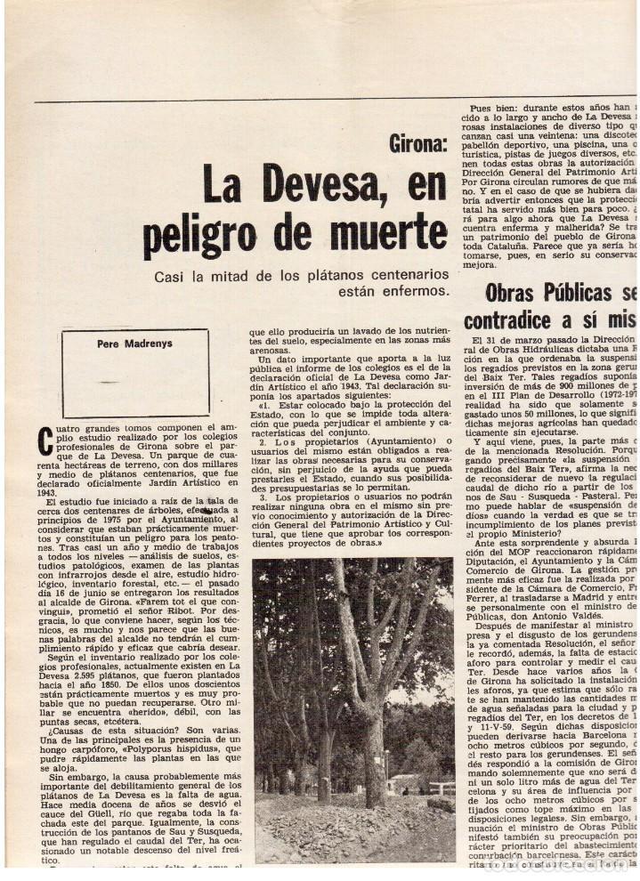 Coleccionismo de Revista Destino: 1976. HERIBERT BARRERA (ERC).GIRONA.JORDI PUJOL.JEAN GENET.SEBASTIÁ GASCH. (VER SUMARIO) - Foto 12 - 114675907