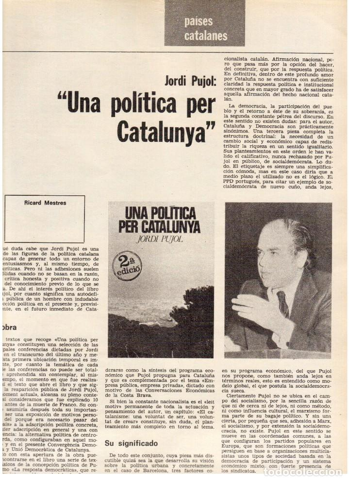 Coleccionismo de Revista Destino: 1976. HERIBERT BARRERA (ERC).GIRONA.JORDI PUJOL.JEAN GENET.SEBASTIÁ GASCH. (VER SUMARIO) - Foto 13 - 114675907