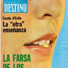 Coleccionismo de Revista Destino: 1976. XI ESCOLA D'ESTIU.JOSEP MELIÁ.PASCUAL DUARTE.NAPOLEÓN.VIAPLANA.PAÍSES CATALANES. (VER SUMARIO). Lote 114760059