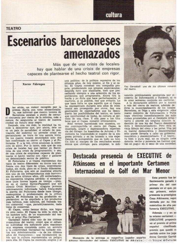Coleccionismo de Revista Destino: 1976. XI ESCOLA D'ESTIU.JOSEP MELIÁ.PASCUAL DUARTE.NAPOLEÓN.VIAPLANA.PAÍSES CATALANES. (VER SUMARIO) - Foto 3 - 114760059