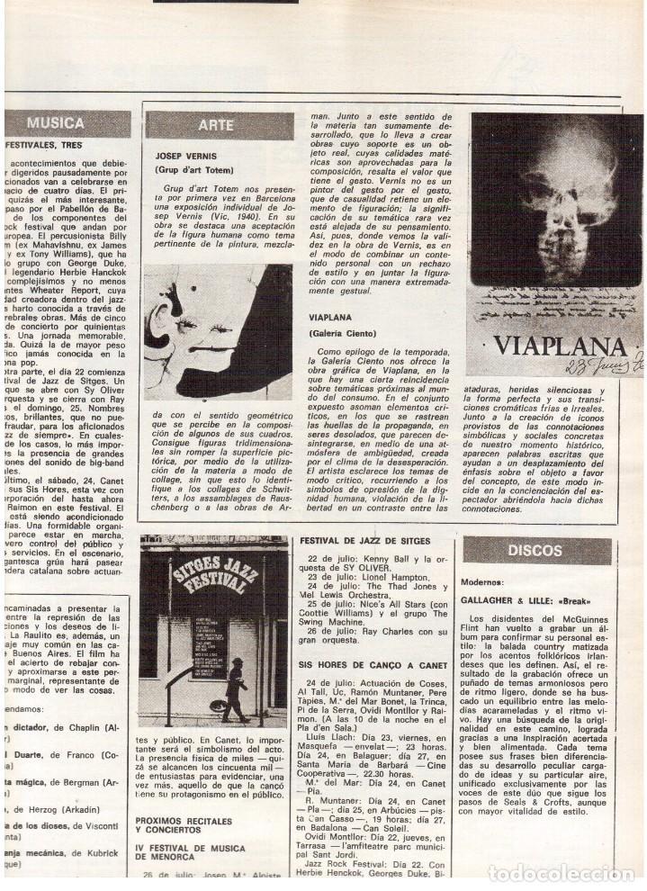 Coleccionismo de Revista Destino: 1976. XI ESCOLA D'ESTIU.JOSEP MELIÁ.PASCUAL DUARTE.NAPOLEÓN.VIAPLANA.PAÍSES CATALANES. (VER SUMARIO) - Foto 6 - 114760059