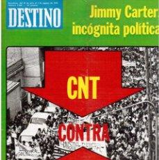 Coleccionismo de Revista Destino: 1976. JORGE GUILLÉN.LA BIENAL DE VENECIA.JOAQUIN MURIETA, CARCASONA.JANE BIRKIN.CANET. (VER SUMARIO). Lote 114764495