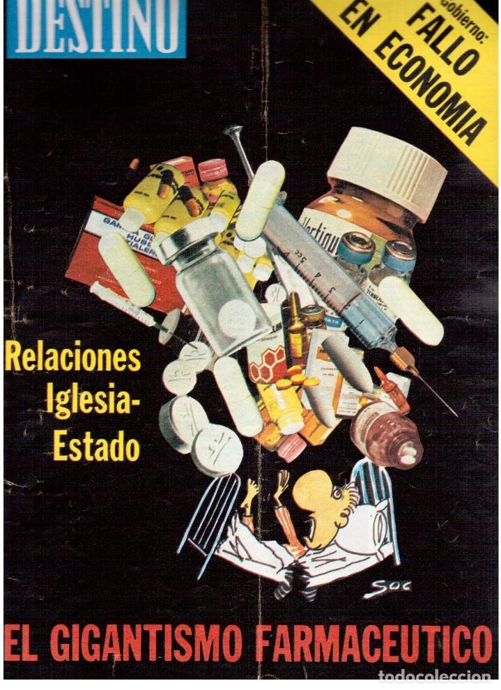 1976. DEL SINDICALISMO A PERTUR.INDUSTRIA FARMACEUTICA (GIGANTISMO).LEZAMA LIMA. (VER SUMARIO) (Coleccionismo - Revistas y Periódicos Modernos (a partir de 1.940) - Revista Destino)