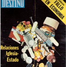 Coleccionismo de Revista Destino: 1976. DEL SINDICALISMO A PERTUR.INDUSTRIA FARMACEUTICA (GIGANTISMO).LEZAMA LIMA. (VER SUMARIO). Lote 114773171