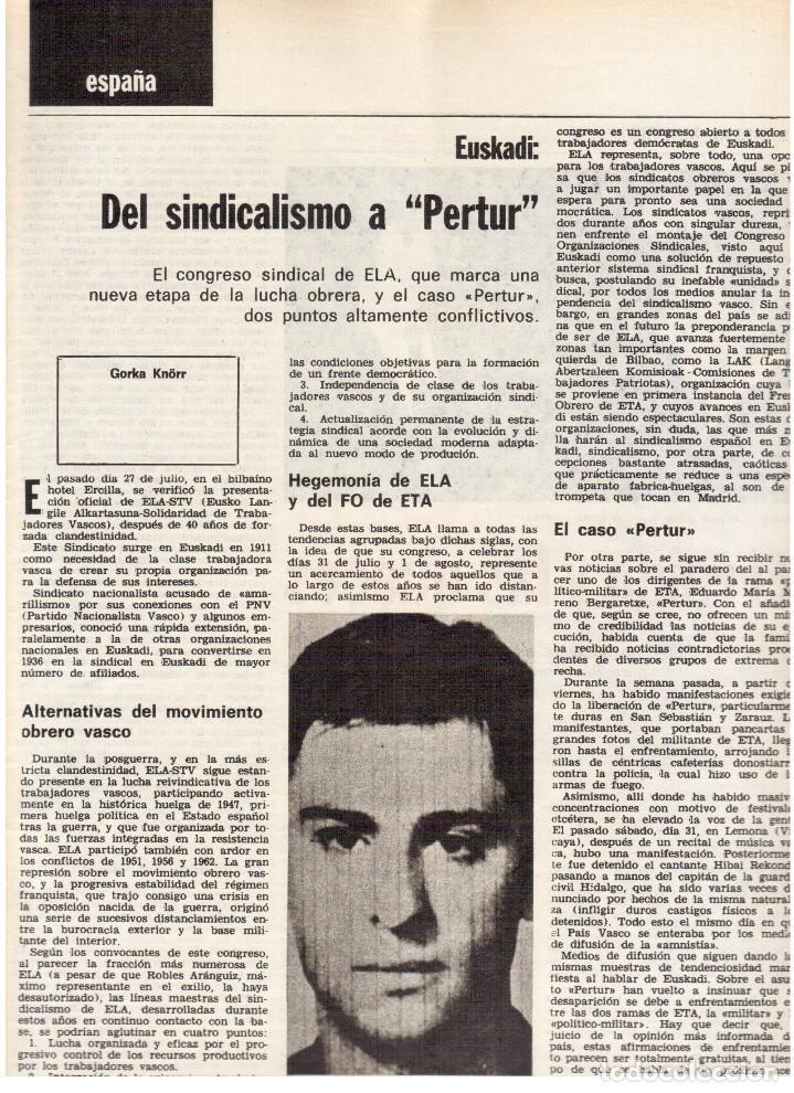 Coleccionismo de Revista Destino: 1976. DEL SINDICALISMO A PERTUR.INDUSTRIA FARMACEUTICA (GIGANTISMO).LEZAMA LIMA. (VER SUMARIO) - Foto 3 - 114773171