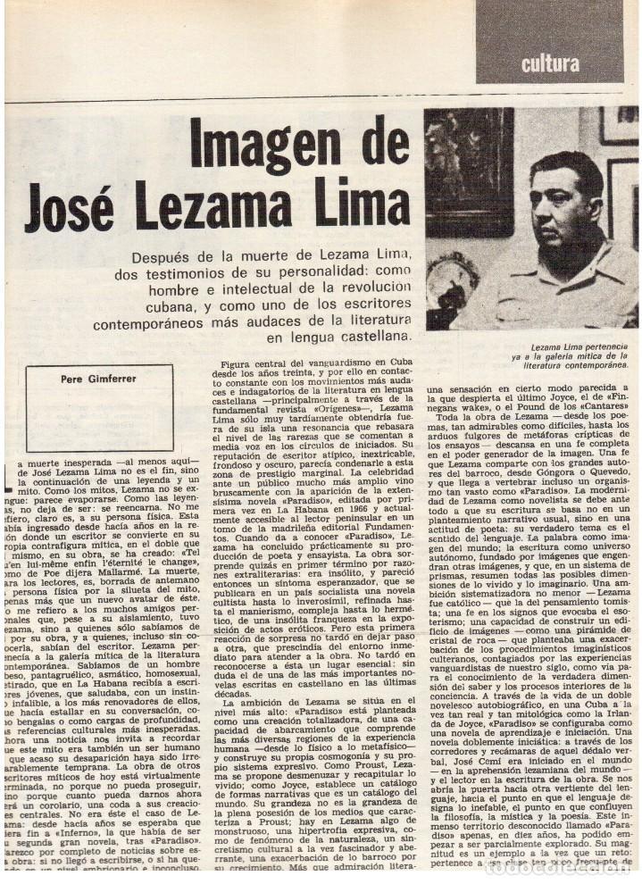 Coleccionismo de Revista Destino: 1976. DEL SINDICALISMO A PERTUR.INDUSTRIA FARMACEUTICA (GIGANTISMO).LEZAMA LIMA. (VER SUMARIO) - Foto 6 - 114773171