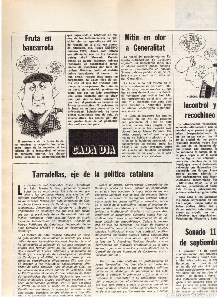 Coleccionismo de Revista Destino: 1976. DEL SINDICALISMO A PERTUR.INDUSTRIA FARMACEUTICA (GIGANTISMO).LEZAMA LIMA. (VER SUMARIO) - Foto 8 - 114773171