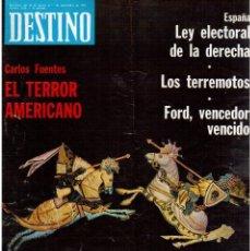 Coleccionismo de Revista Destino: 1976. TARRADELLAS. JORDI PUJOL.POLONIA.PAISES CATALANES. (VER SUMARIO). Lote 114775099