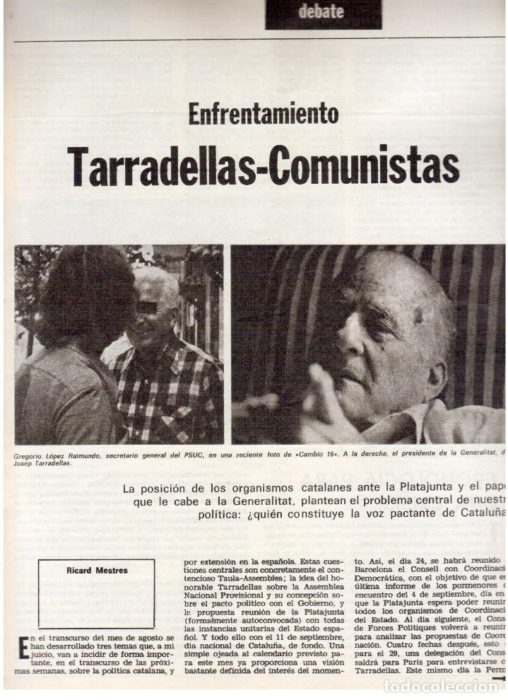 Coleccionismo de Revista Destino: 1976. TARRADELLAS. JORDI PUJOL.POLONIA.PAISES CATALANES. (VER SUMARIO) - Foto 3 - 114775099