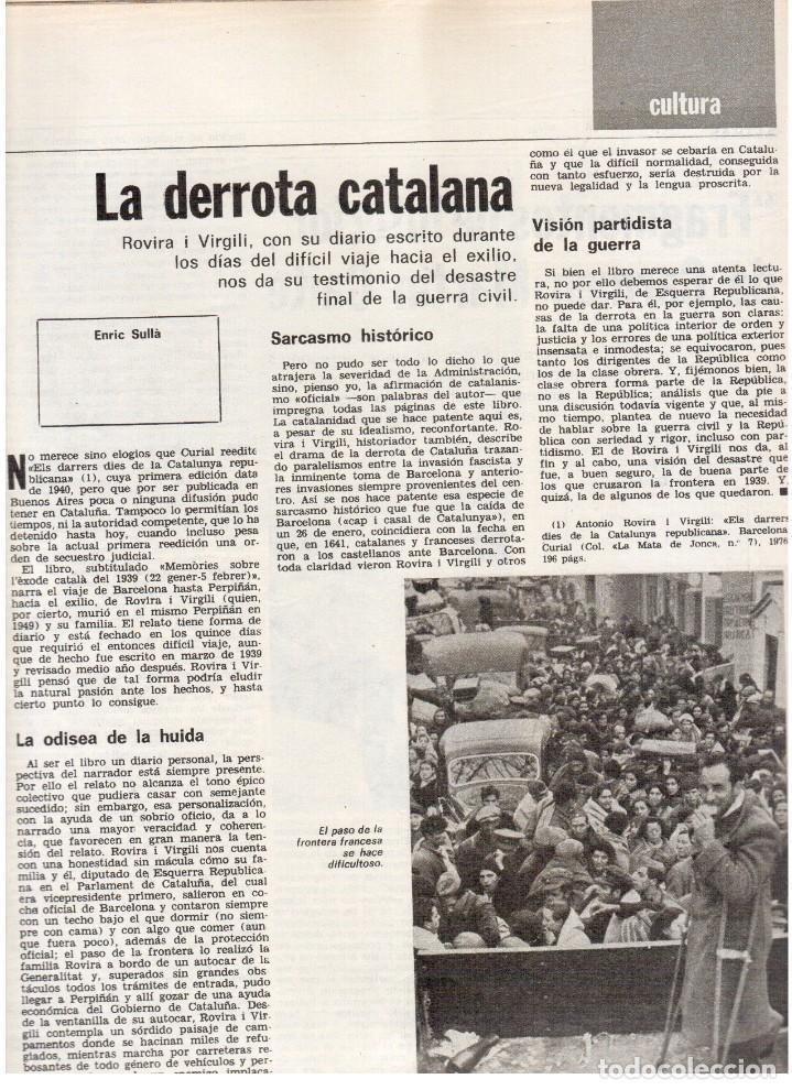 Coleccionismo de Revista Destino: 1976. TARRADELLAS. JORDI PUJOL.POLONIA.PAISES CATALANES. (VER SUMARIO) - Foto 5 - 114775099