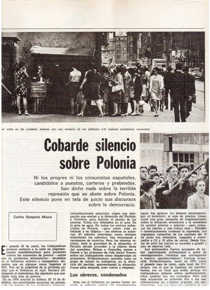 Coleccionismo de Revista Destino: 1976. TARRADELLAS. JORDI PUJOL.POLONIA.PAISES CATALANES. (VER SUMARIO) - Foto 6 - 114775099