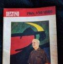 Coleccionismo de Revista Destino: 1968: AÑO MIRÓ.. Lote 114815999