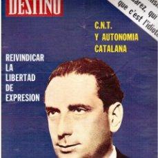 Coleccionismo de Revista Destino: 1976. CARRASCO I FORMIGUERA.LA CNT Y LOS PAÏSOS CATALANS.EL BARÇA.UNIÓ DEMOCRÁTICA.(VER SUMARIO). Lote 114883955