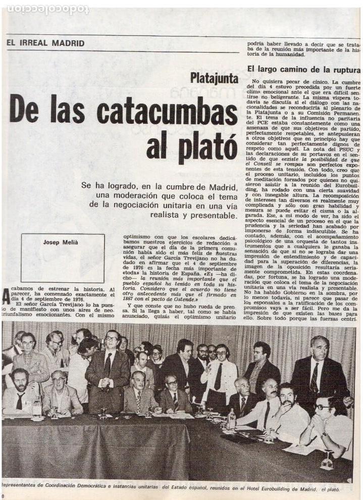 Coleccionismo de Revista Destino: 1976. EL PAIS, MIQUEL ROCA I JUNYENT.ARANGUREN.L'ONZE DE SETEMBRE, JORDI PUJOL.WARHOL. (VER SUMARIO) - Foto 3 - 114892263