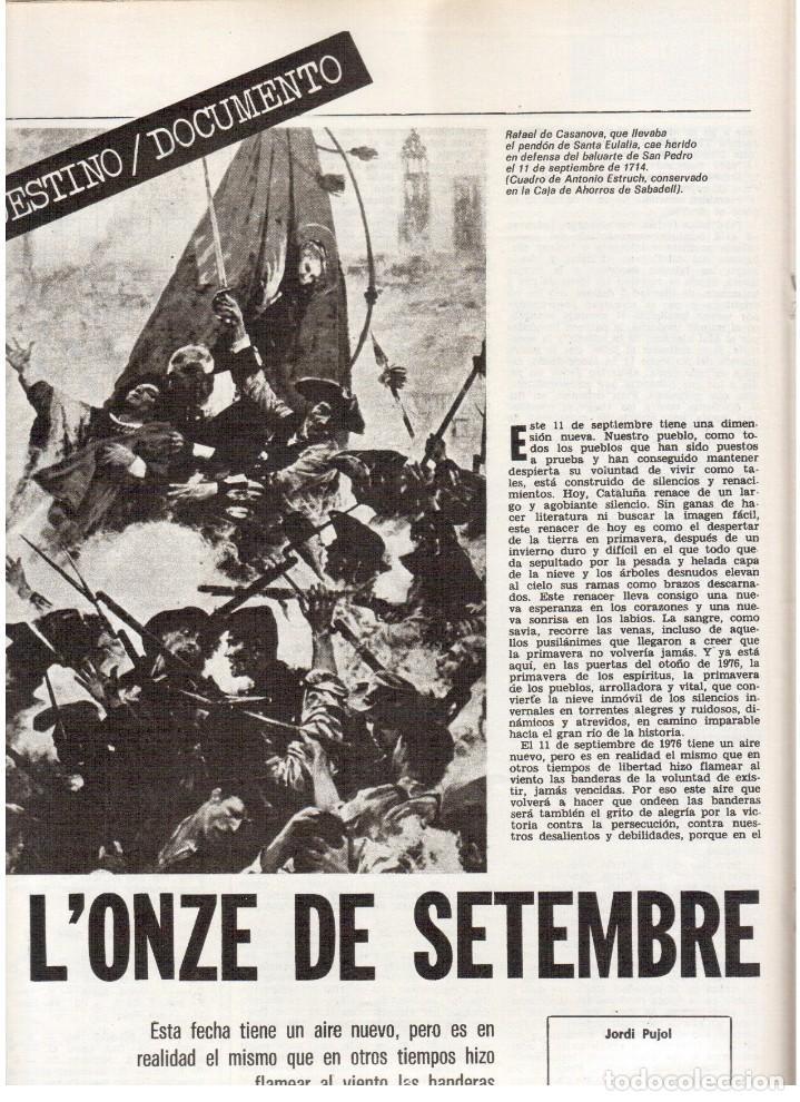 Coleccionismo de Revista Destino: 1976. EL PAIS, MIQUEL ROCA I JUNYENT.ARANGUREN.L'ONZE DE SETEMBRE, JORDI PUJOL.WARHOL. (VER SUMARIO) - Foto 6 - 114892263