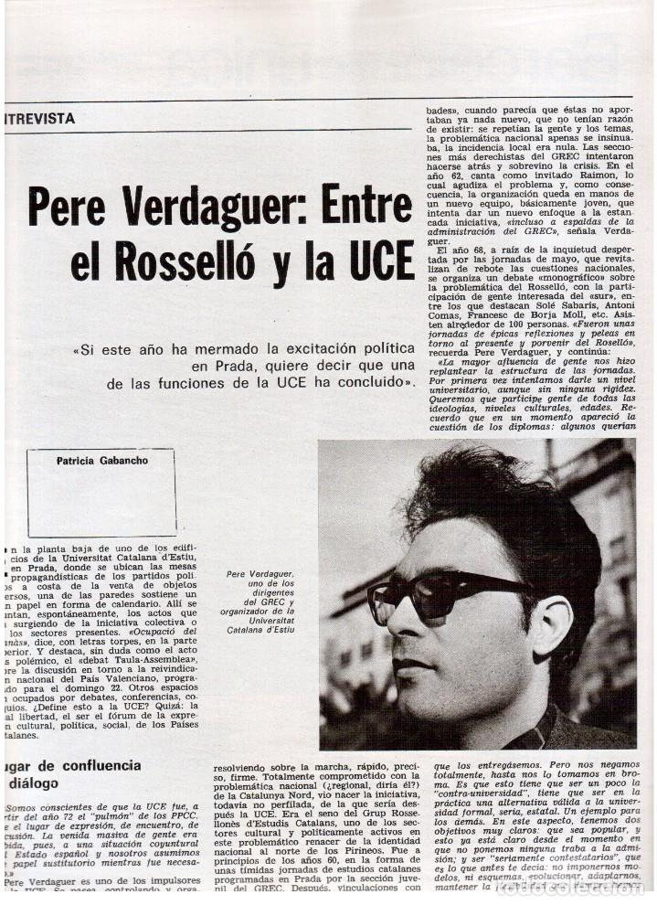 Coleccionismo de Revista Destino: 1976. EL PAIS, MIQUEL ROCA I JUNYENT.ARANGUREN.L'ONZE DE SETEMBRE, JORDI PUJOL.WARHOL. (VER SUMARIO) - Foto 10 - 114892263