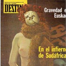 Coleccionismo de Revista Destino: 1976. LA EROTOMANIA.BANCA CATALANA.BARÇA.CARLES RAHOLA.RAIMON.PAISES CATALANES. (VER SUMARIO). Lote 114931983