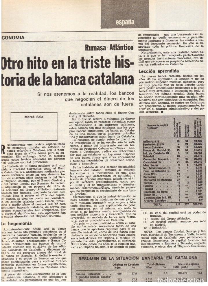 Coleccionismo de Revista Destino: 1976. LA EROTOMANIA.BANCA CATALANA.BARÇA.CARLES RAHOLA.RAIMON.PAISES CATALANES. (VER SUMARIO) - Foto 4 - 114931983
