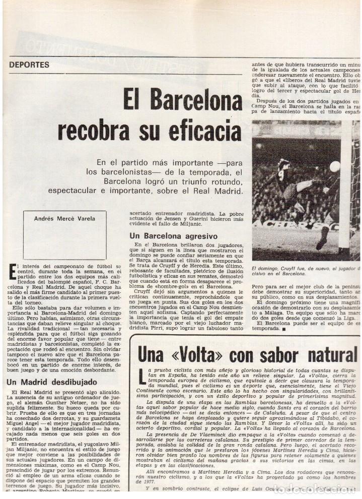 Coleccionismo de Revista Destino: 1976. LA EROTOMANIA.BANCA CATALANA.BARÇA.CARLES RAHOLA.RAIMON.PAISES CATALANES. (VER SUMARIO) - Foto 5 - 114931983