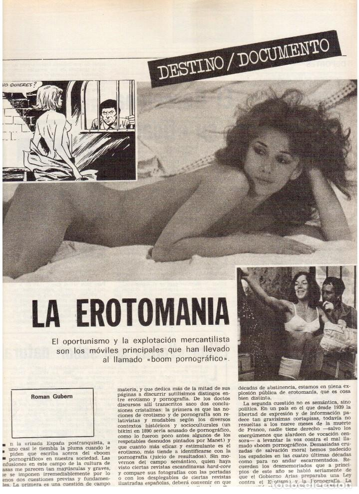 Coleccionismo de Revista Destino: 1976. LA EROTOMANIA.BANCA CATALANA.BARÇA.CARLES RAHOLA.RAIMON.PAISES CATALANES. (VER SUMARIO) - Foto 6 - 114931983