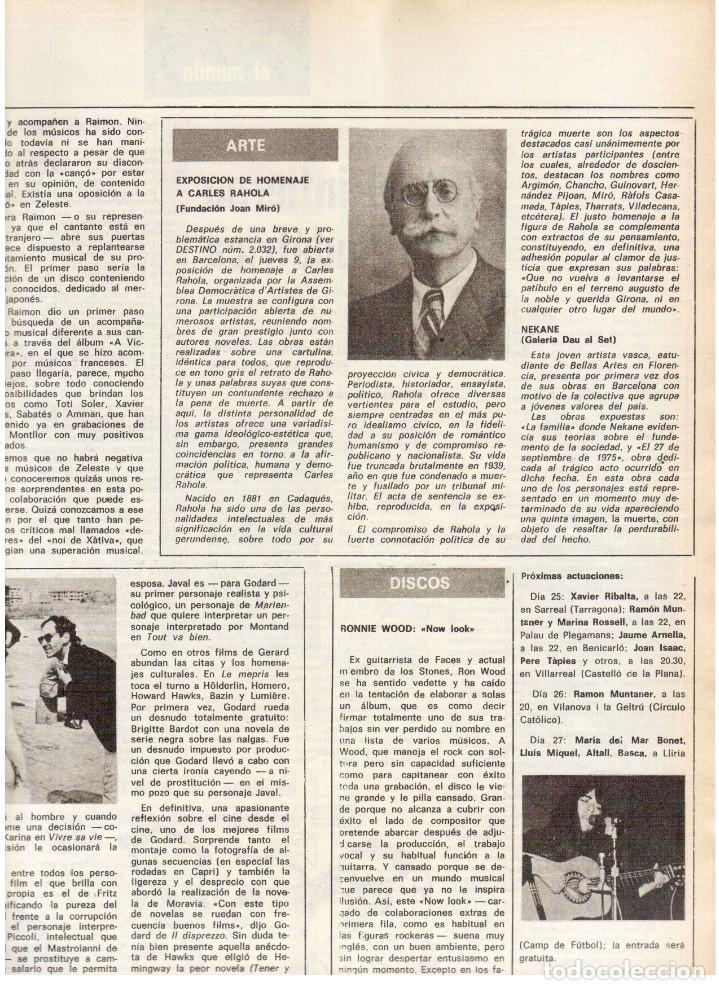 Coleccionismo de Revista Destino: 1976. LA EROTOMANIA.BANCA CATALANA.BARÇA.CARLES RAHOLA.RAIMON.PAISES CATALANES. (VER SUMARIO) - Foto 7 - 114931983