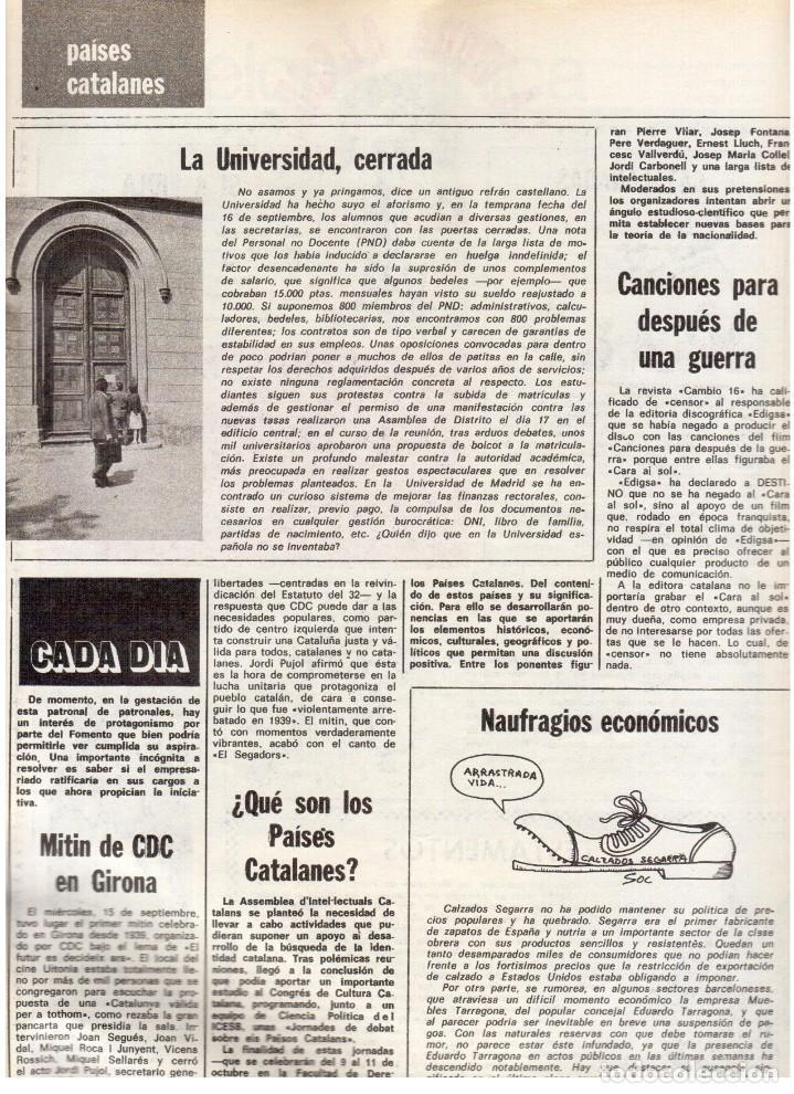 Coleccionismo de Revista Destino: 1976. LA EROTOMANIA.BANCA CATALANA.BARÇA.CARLES RAHOLA.RAIMON.PAISES CATALANES. (VER SUMARIO) - Foto 9 - 114931983