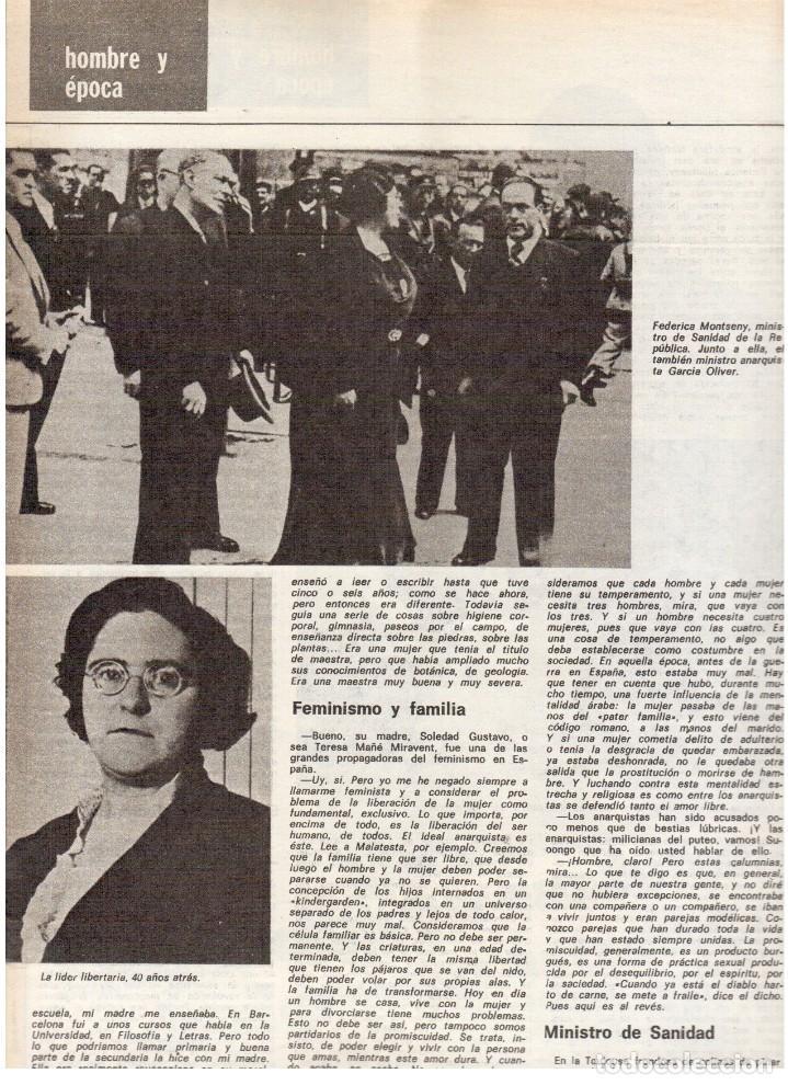 Coleccionismo de Revista Destino: 1976. FEDERICA MONTSENY. SERRAT NO;RAIMON SI.CASTELAO.LOS PANERO. PAISES CATALANES. (VER SUMARIO) - Foto 5 - 114934999