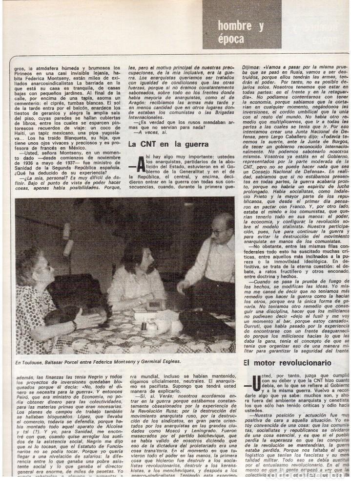 Coleccionismo de Revista Destino: 1976. FEDERICA MONTSENY. SERRAT NO;RAIMON SI.CASTELAO.LOS PANERO. PAISES CATALANES. (VER SUMARIO) - Foto 6 - 114934999
