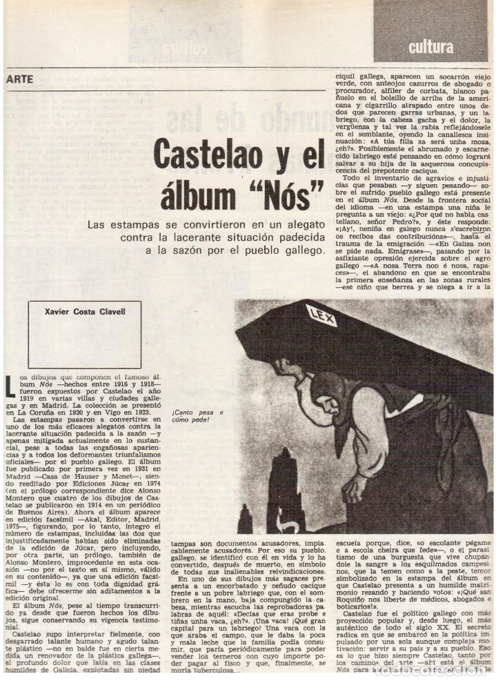 Coleccionismo de Revista Destino: 1976. FEDERICA MONTSENY. SERRAT NO;RAIMON SI.CASTELAO.LOS PANERO. PAISES CATALANES. (VER SUMARIO) - Foto 8 - 114934999