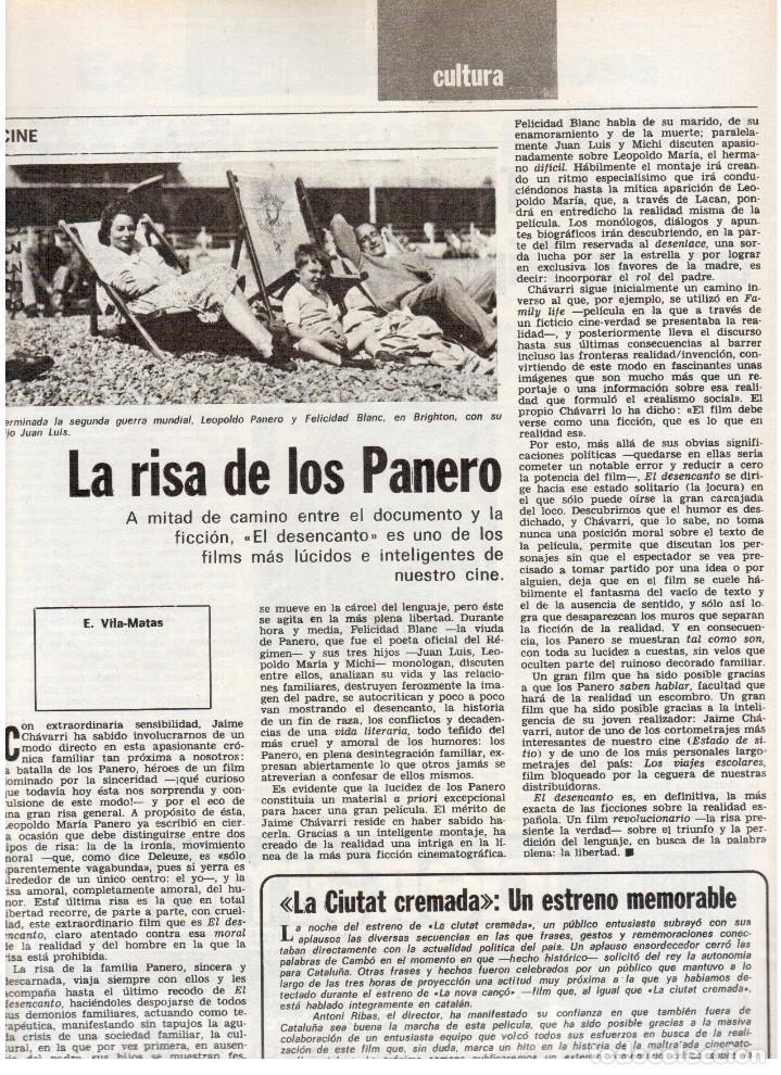 Coleccionismo de Revista Destino: 1976. FEDERICA MONTSENY. SERRAT NO;RAIMON SI.CASTELAO.LOS PANERO. PAISES CATALANES. (VER SUMARIO) - Foto 9 - 114934999
