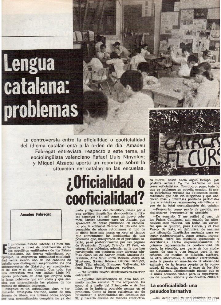 Coleccionismo de Revista Destino: 1976. TARRADELLAS.LENGUA CATALANA.ANTES Y DESPUÉS DEL 25 DE ABRIL.INDEPENDENCIA GALES. (VER SUMARIO) - Foto 3 - 114936759
