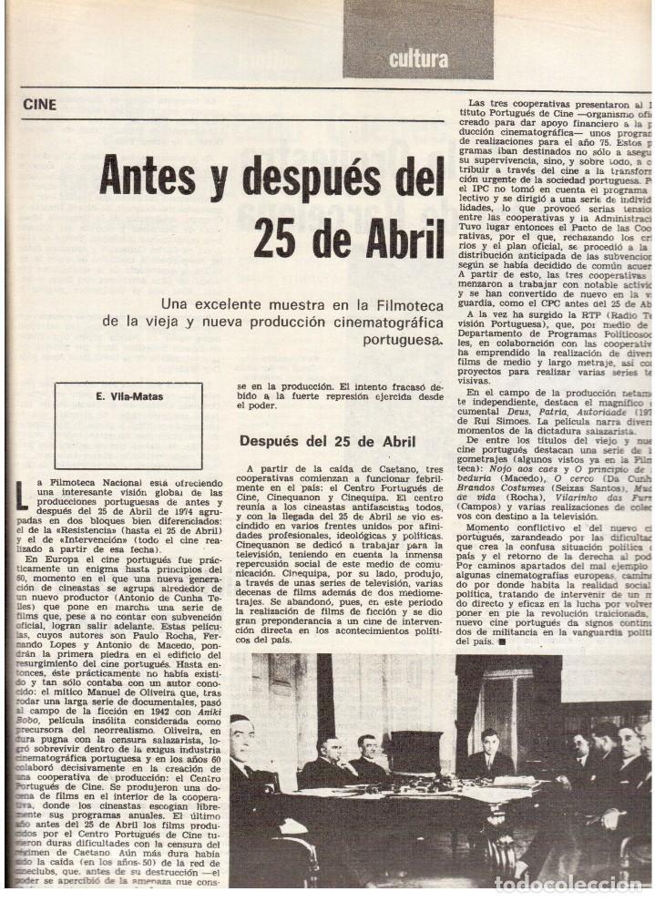 Coleccionismo de Revista Destino: 1976. TARRADELLAS.LENGUA CATALANA.ANTES Y DESPUÉS DEL 25 DE ABRIL.INDEPENDENCIA GALES. (VER SUMARIO) - Foto 6 - 114936759