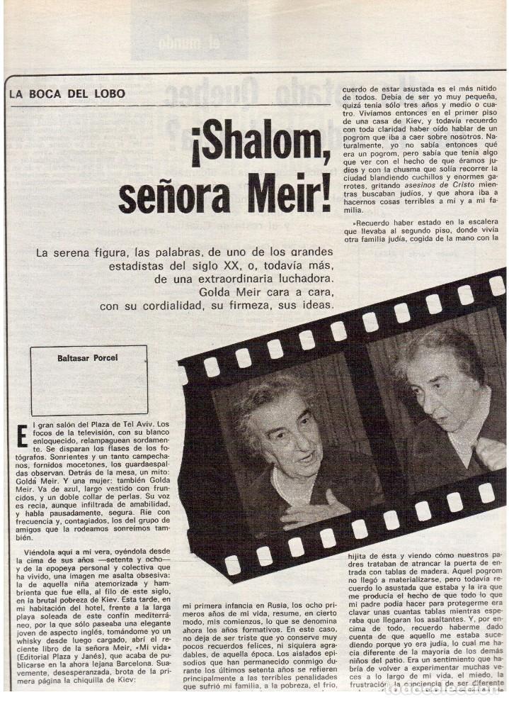 Coleccionismo de Revista Destino: 1976. TARRADELLAS.LENGUA CATALANA.ANTES Y DESPUÉS DEL 25 DE ABRIL.INDEPENDENCIA GALES. (VER SUMARIO) - Foto 7 - 114936759