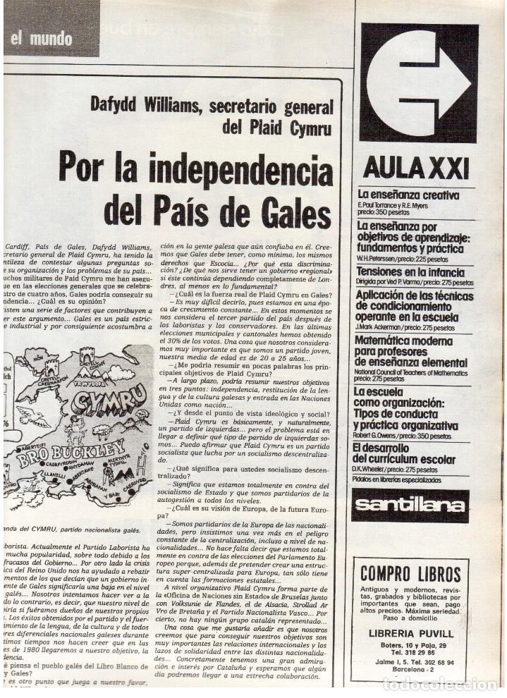 Coleccionismo de Revista Destino: 1976. TARRADELLAS.LENGUA CATALANA.ANTES Y DESPUÉS DEL 25 DE ABRIL.INDEPENDENCIA GALES. (VER SUMARIO) - Foto 8 - 114936759