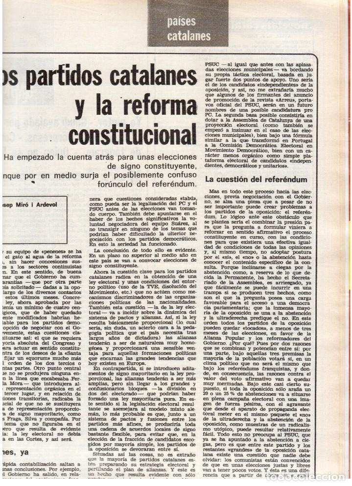 Coleccionismo de Revista Destino: 1976. TARRADELLAS.LENGUA CATALANA.ANTES Y DESPUÉS DEL 25 DE ABRIL.INDEPENDENCIA GALES. (VER SUMARIO) - Foto 9 - 114936759