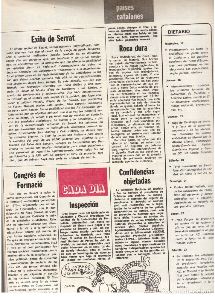 Coleccionismo de Revista Destino: 1976. TARRADELLAS.LENGUA CATALANA.ANTES Y DESPUÉS DEL 25 DE ABRIL.INDEPENDENCIA GALES. (VER SUMARIO) - Foto 10 - 114936759