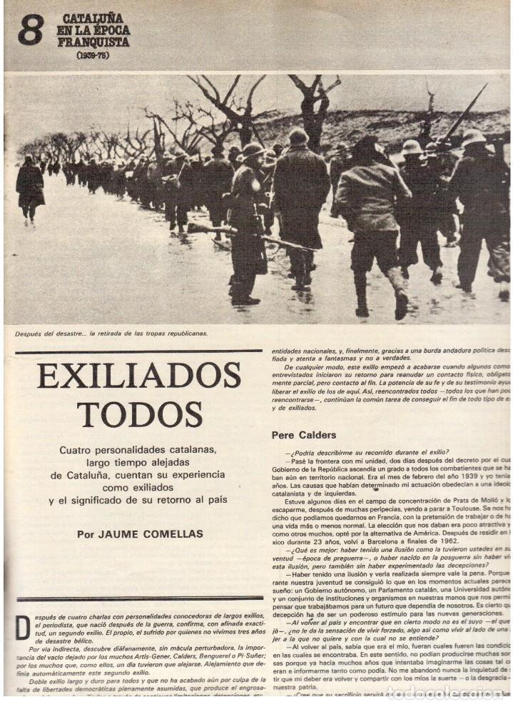 Coleccionismo de Revista Destino: 1976.TANIA DORIS.13 PARTIDOS CATALANES.PAU CASALS.EXILIADOS CATALANES.THEODORAKIS. (VER SUMARIO) - Foto 7 - 114937863