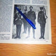 Coleccionismo de Revista Destino: RECORTE PRENSA : FOTOGRAFIA HISTORICA : EAMON DE VALERA PRISIONERO DE LOS INGLESES. DESTINO, 1965. Lote 116714643