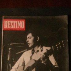 Coleccionismo de Revista Destino: REVISTA DESTINO Nº 1571-1967-PORTADA SERRAT-JEAN LUC GODARD-NESTOR LUJAN. Lote 118759667