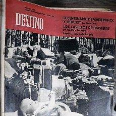 Coleccionismo de Revista Destino: REVISTA DESTINO Nº 1297 16 DE JUNIO DE 1962. Lote 121110867