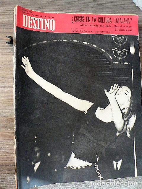 REVISTA DESTINO Nº 1692, 7 DE MARZO DE 1970 (Coleccionismo - Revistas y Periódicos Modernos (a partir de 1.940) - Revista Destino)