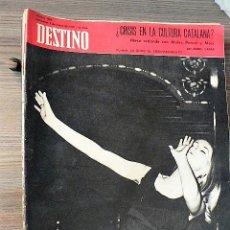 Coleccionismo de Revista Destino: REVISTA DESTINO Nº 1692, 7 DE MARZO DE 1970. Lote 121162891