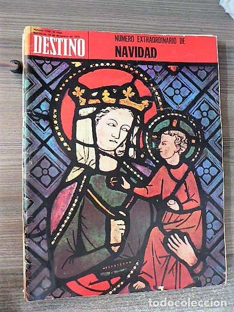 REVISTA DESTINO Nº 1733, 19 DE DICIEMBRE DE 1970 (Coleccionismo - Revistas y Periódicos Modernos (a partir de 1.940) - Revista Destino)