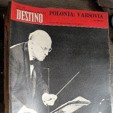 Collectionnisme de Magazine Destino: REVISTA DESTINO Nº 1666, 6 DE SEPTIEMBRE DE 1969. Lote 123512863