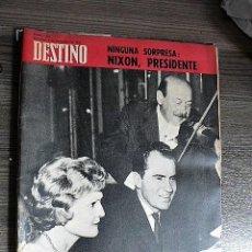 Coleccionismo de Revista Destino: REVISTA DESTINO Nº 1623, 9 DE NOVIEMBRE DE 1968. Lote 123520063
