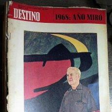 Collectionnisme de Magazine Destino: REVISTA DESTINO Nº 1625, 23 DE NOVIEMBRE DE 1968. Lote 123520751
