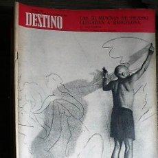 Collectionnisme de Magazine Destino: REVISTA DESTINO Nº 1589, 16 DE MARZO DE 1968. Lote 123521347
