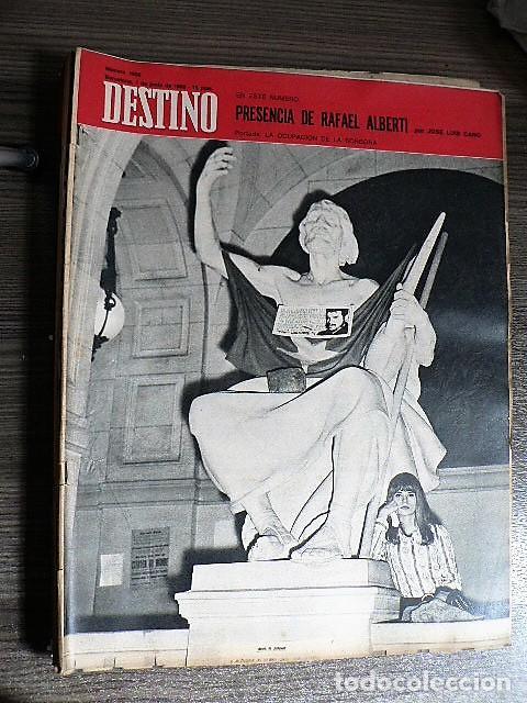 REVISTA DESTINO Nº 1600, 1 DE JUNIO DE 1968 (Coleccionismo - Revistas y Periódicos Modernos (a partir de 1.940) - Revista Destino)