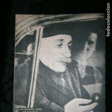 Coleccionismo de Revista Destino: F1 DESTINO Nº 607 AÑO 1949 LOS SETENTA AÑOS DE EINSTEIN. Lote 124391499