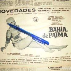 Coleccionismo de Revista Destino: PUBLICIDAD DE LA PELICULA : BAHIA DE PALMA : ELKE SOMMER, ARTURO FERNANDEZ. DESTINO, DCMBRE 1962. Lote 125673343